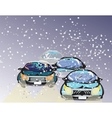 Driving Through A Snowstorm vector image vector image