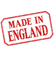 England - made in red vintage isolated label vector image vector image