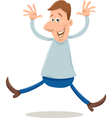 excited man cartoon vector image vector image