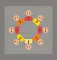 flat shading style icon gay community vector image