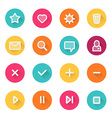Flat UI design elements - set of basic web icons vector image