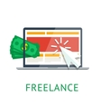 Freelance icon vector image