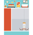 Furniture Flat Design for Webpage Poster vector image vector image