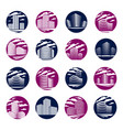 futuristic building round shape icon or logos set vector image vector image