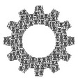 gearwheel collage of chess tower icons vector image vector image
