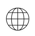 globe outline sign design for web site mobile vector image