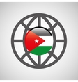 globe sphere flag jordan country button graphic vector image vector image