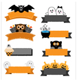 Halloween ribbon collection vector image vector image