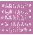 Hand drawn thin font vector image vector image