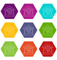 house protection icons set 9 vector image vector image