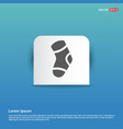 icon socks - blue sticker button vector image vector image