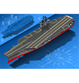 Isometric Aircraft Carrier in Front View vector image vector image