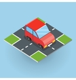 Isometric Red Car vector image