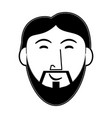 jesus face cartoon vector image vector image