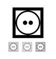 laundry symbol icon vector image