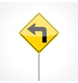 Left Turn Sign vector image vector image