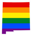 lgbt flag map of mexico rainbow map of mexico in vector image