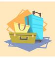 luggage icon summer sea vacation concept vector image vector image