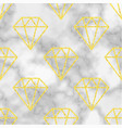 marble background with golden diamond vector image vector image
