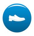 men shoe icon blue vector image