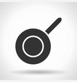 monochromatic frypan icon with hovering effect vector image vector image