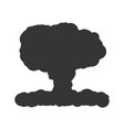 nuclear explosion sign black vector image