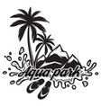 on theme of tourism with palm vector image vector image