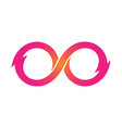pink infinity symbol icons unlimited limitless vector image