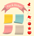Pins and Stickers vector image