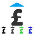 pound up flat icon vector image vector image
