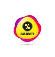 rabatt - discounts in german sign icon star vector image vector image