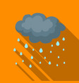 rain icon in flate style isolated on white vector image vector image