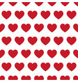 red hearts - seamless pattern vector image vector image