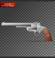 revolver on transparent background vector image