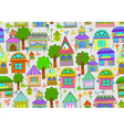 seamless cute homes vector image