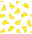 seamless pattern lemon isolated on white vector image vector image