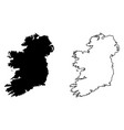 simple only sharp corners map ireland whole vector image vector image