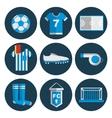 Soccer flat icon set vector image
