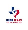 texas city travel logo design vector image