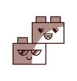 toy blocks structure kawaii character vector image vector image