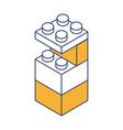 toy building block bricks vector image