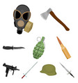 weapon set icons in cartoon style big collection vector image vector image