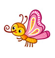 with cute butterfly vector image