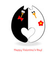 valentines day card cats vector image