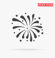 firework icon or with petard stars festival and vector image