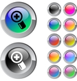 Add multicolor round button vector image vector image