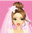 avatar beautiful bride girl vector image