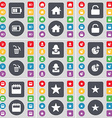 Battery House Lock Trash can Avatar Pizza Calendar vector image vector image