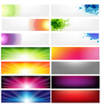 Big Set Abstract Banners vector image vector image