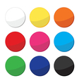 Blank clean web round buttons set vector image vector image